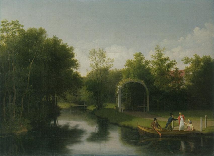 """""""Løvhytte i Sanderumgaard Have."""" 1807."""