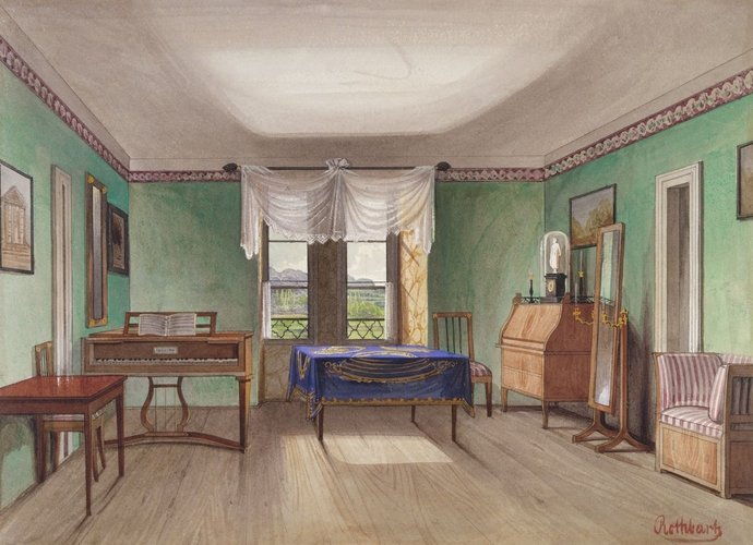 Schloss Rosenau the room used by Princes Ernest and Albert as children c. 1846