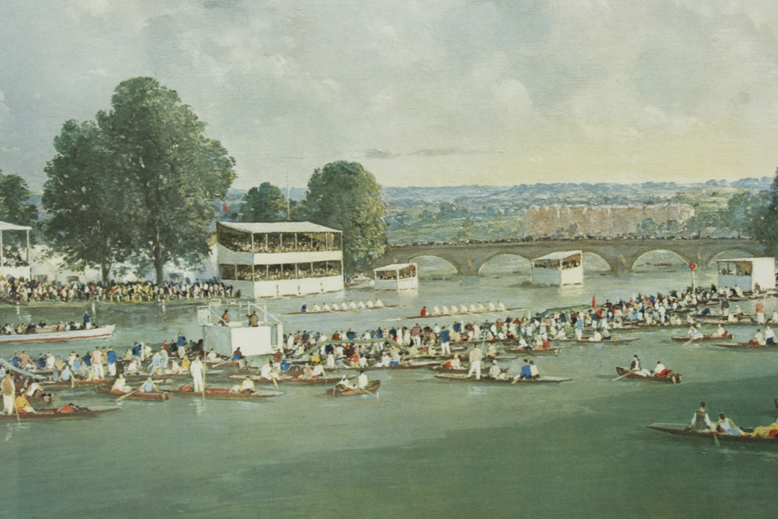 """Henley Regatta."" Published in 1960. Print."