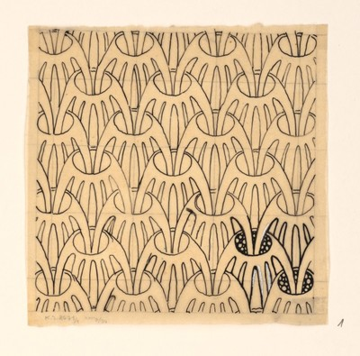 Design of a pattern for cloth or wallpaper. No date.