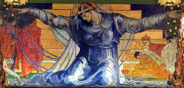 """Unity."" Mural located in the Pennsylvania State Capitol. ca. 1902."