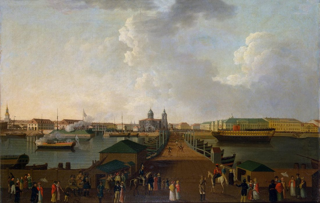 """View of Saint Petersburg in the centenary celebration's day."" ca. 1803."