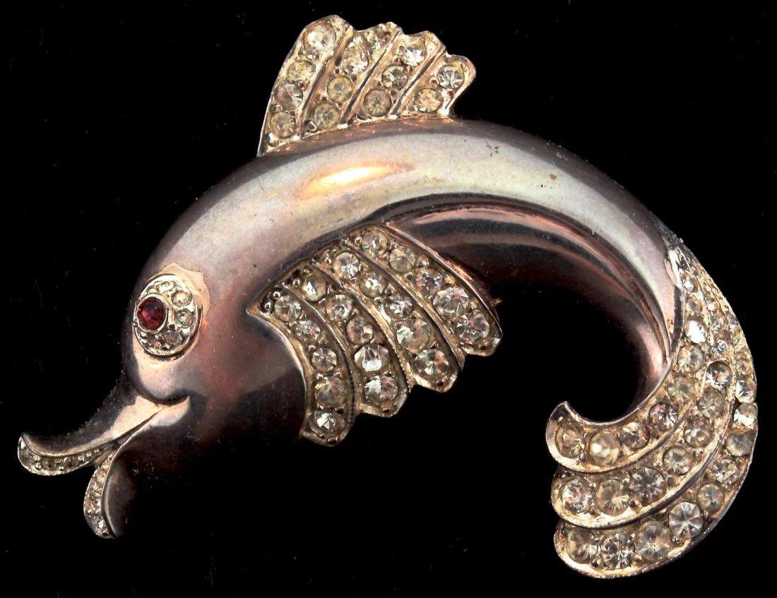 Fish brooch. ca. 1940.