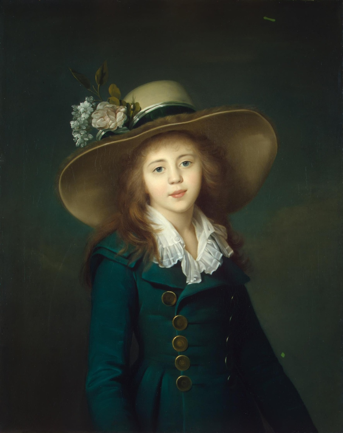 """""""Portrait of a Girl in a Hat."""" 1781-82."""
