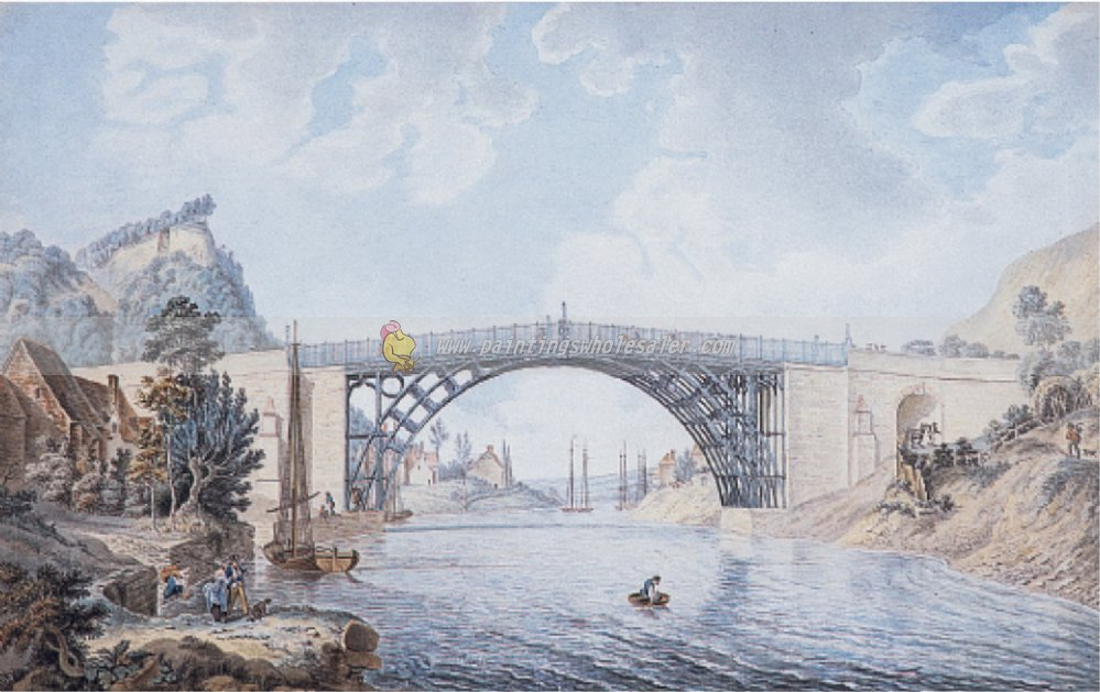 """The cast Iron Bridge at Coalbrookdale."" ca. 1781-1801."