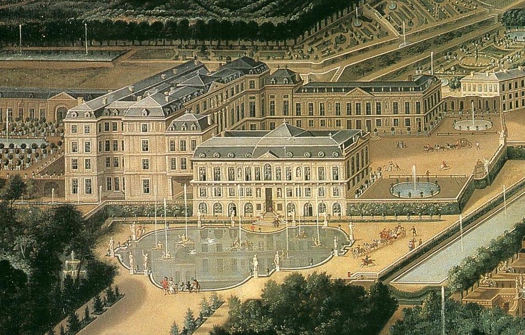"""""""Detail of the Château de Saint-Cloud."""" 1675."""