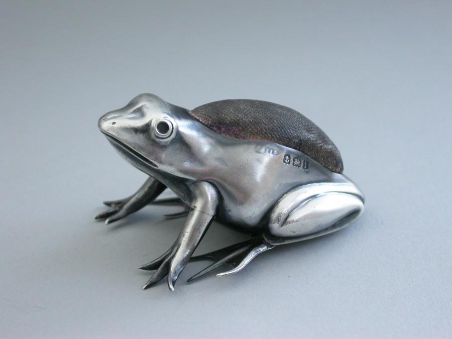 Frog pincushion. 1908.