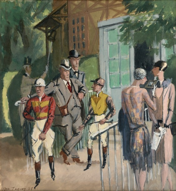 """""""In the saddle, Auteuil."""" 1928."""