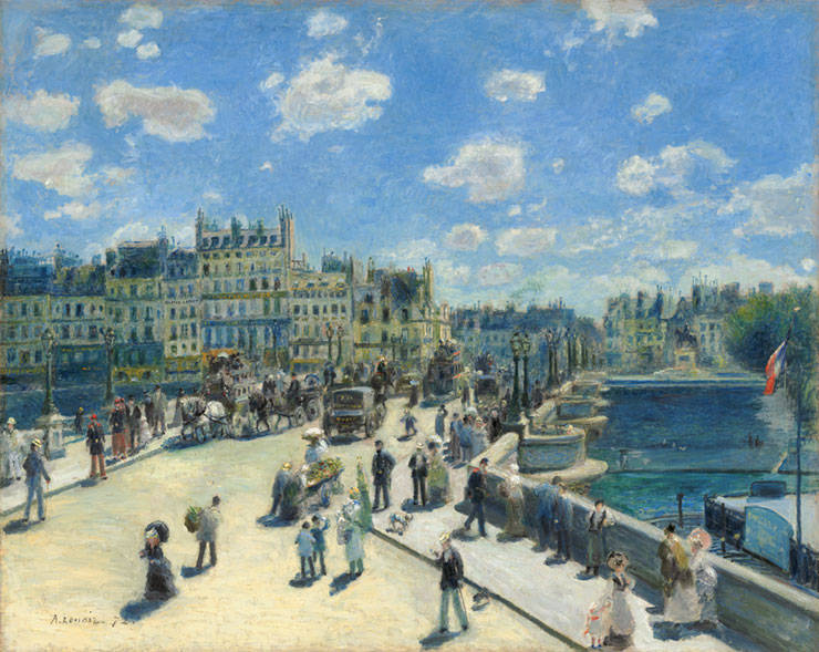 """Pont Neuf, Paris."" 1872."