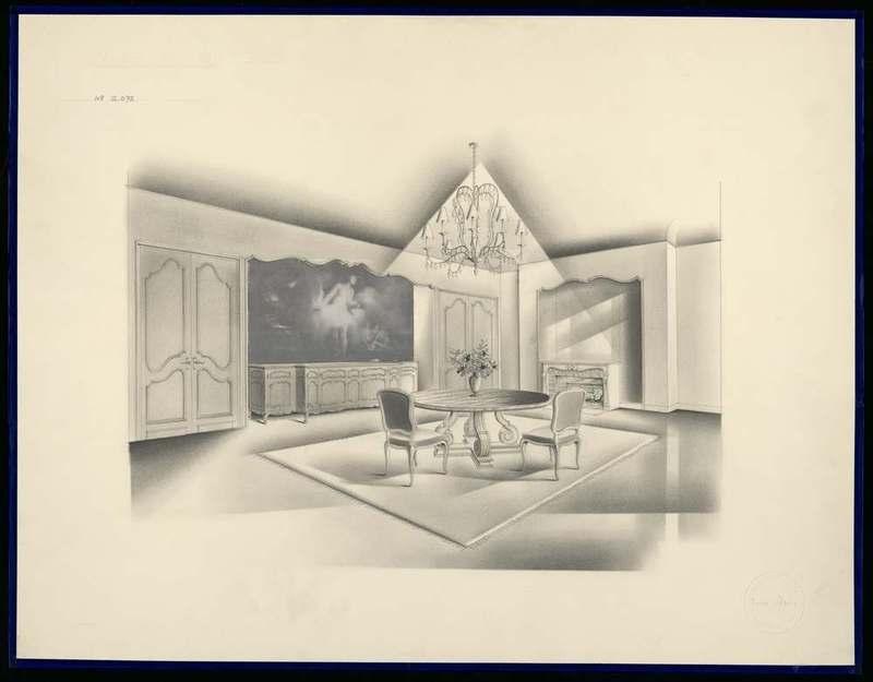 """""""Projet de salle à manger pour Madame Beaulac."""" 20th c."""