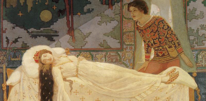 """The Sleeping Princess."" No date."