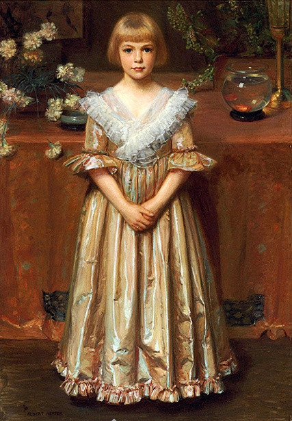 """Young Girl with a Goldfish Bowl."" No date."