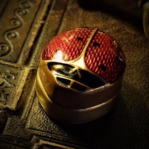 Ladybird design etui, pill box or thimble holder. ca. 1920's.