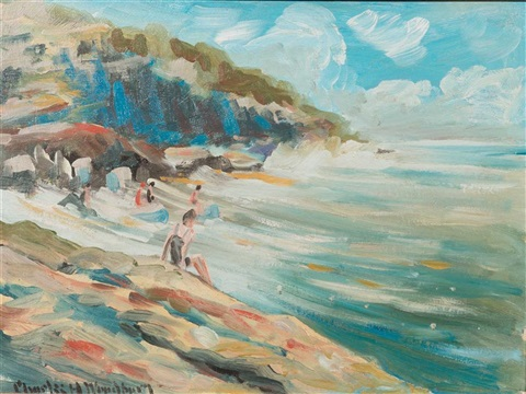 """Bathers on the Rocks."" No date."