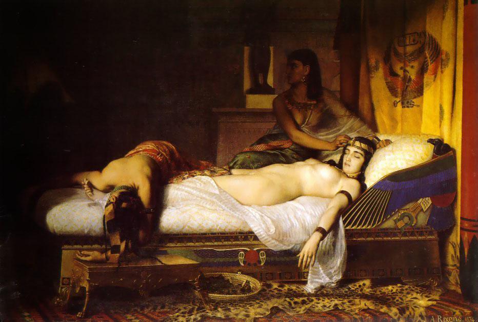 """""""La Mort de Cléopâtre."""" 1874."""