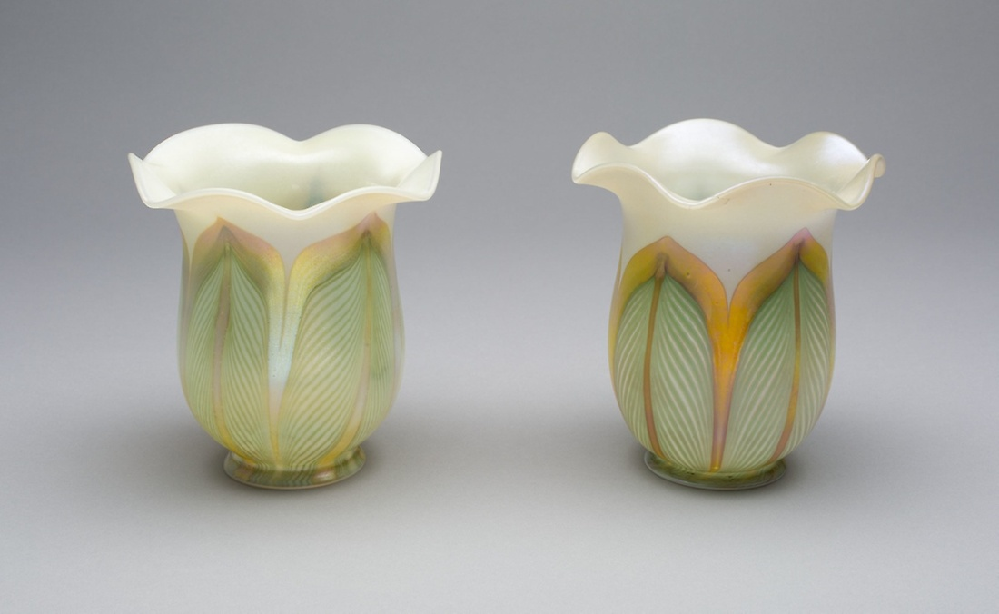 Pair of lampshades. 1910-20.