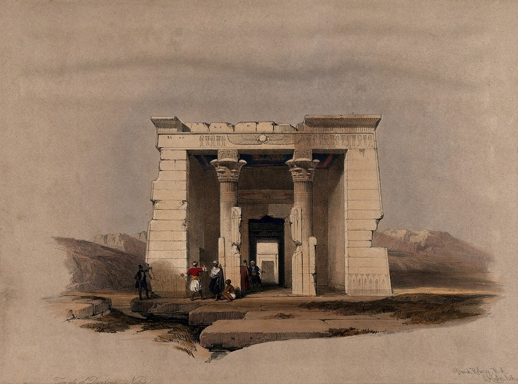 """Temple of Dandour - Nubia."" 1849."