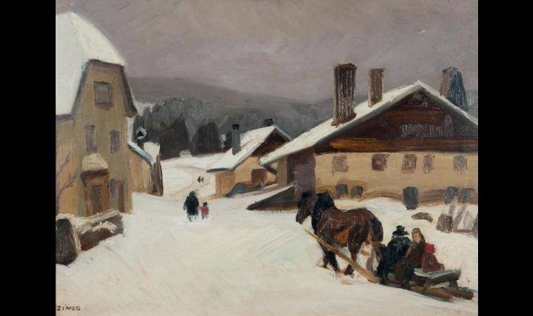 """""""La place du Russey."""" ca. 1936."""