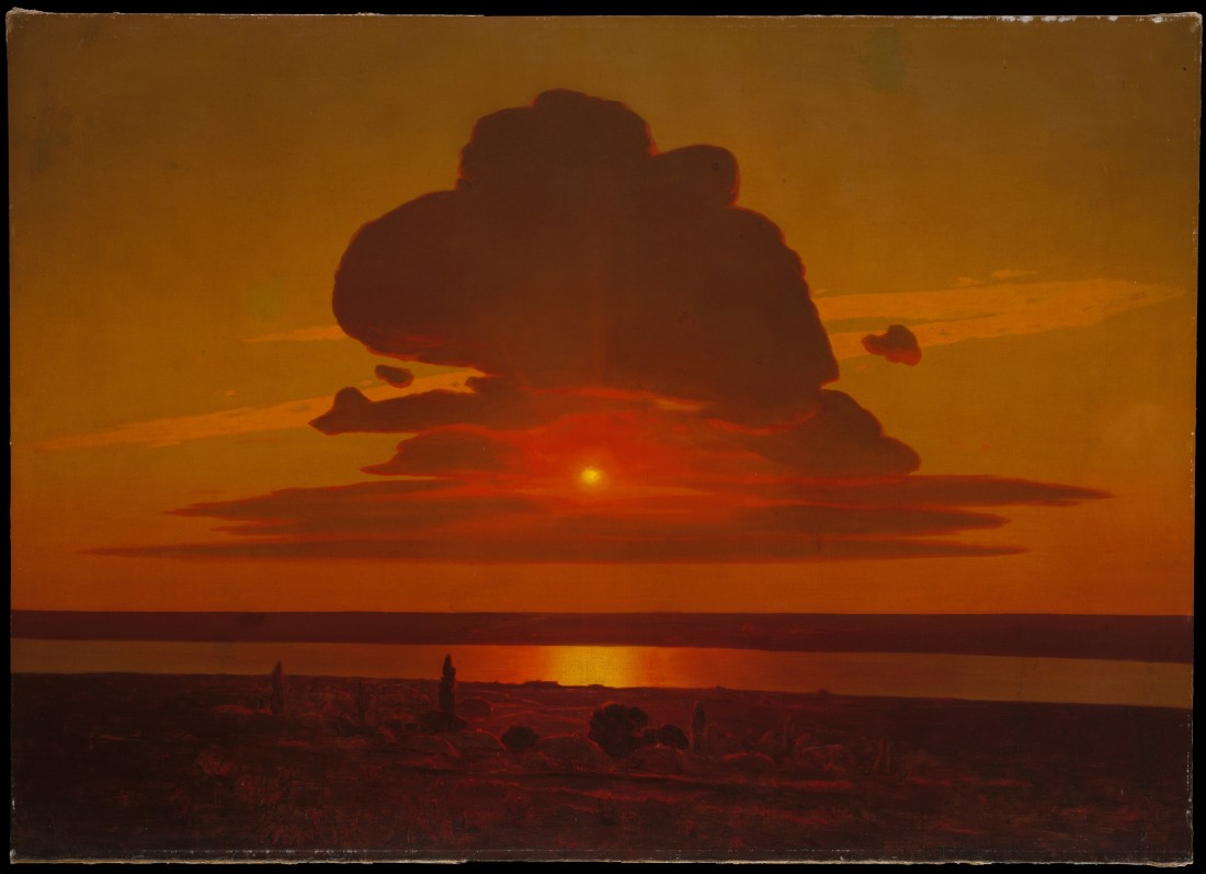 """Red Sunset on the Dnieper."" 1905-1908."