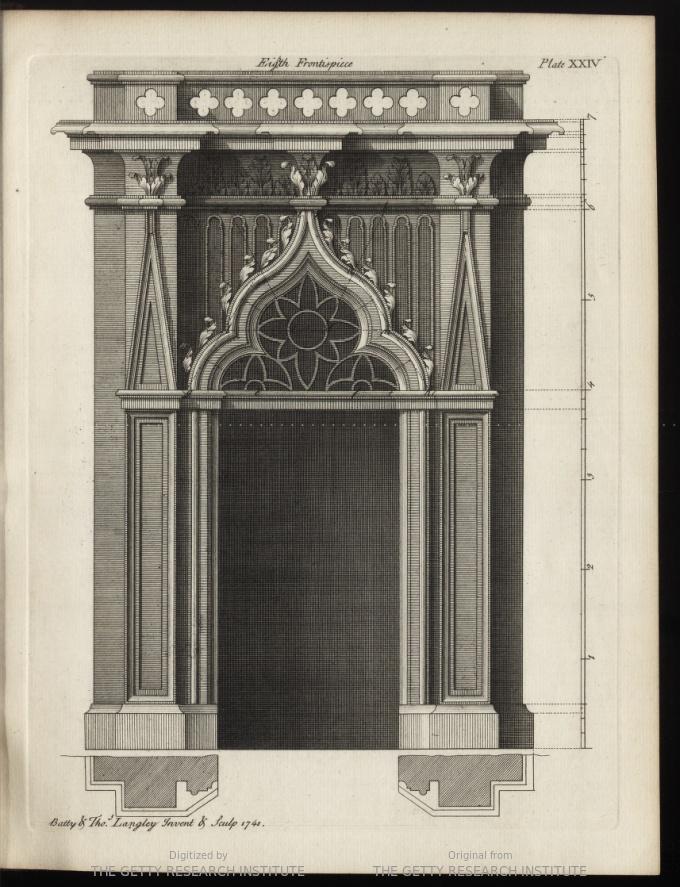 """Eighth Frontispiece. Gothic design concept."