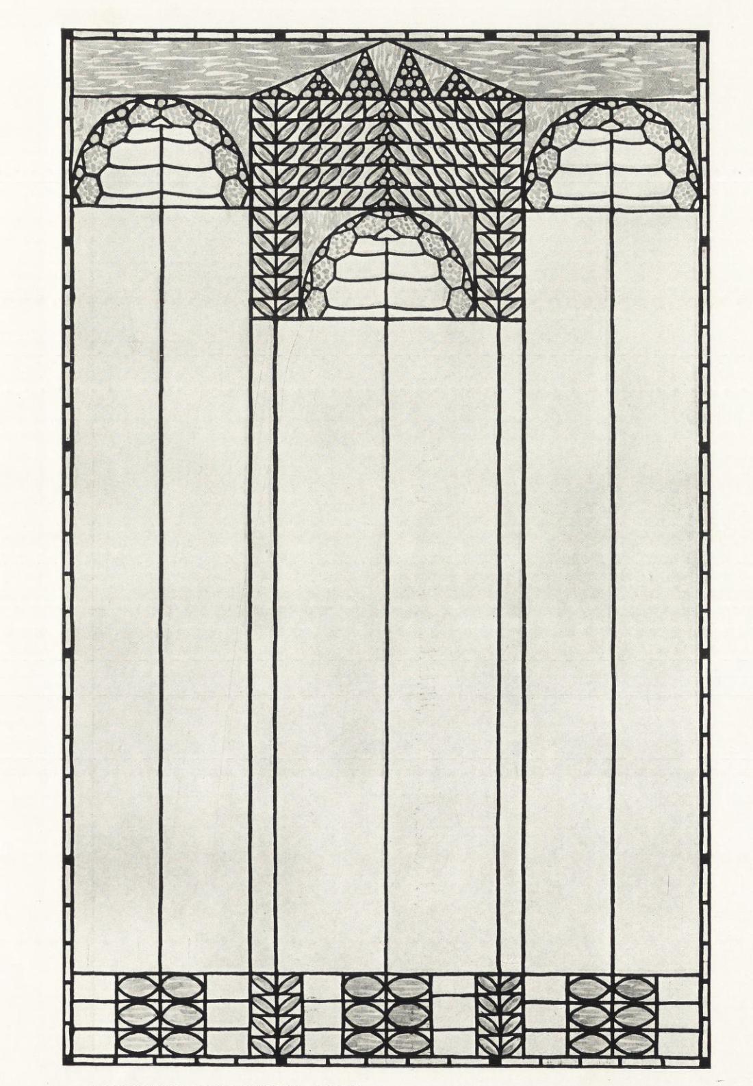 Design for an art glass window. 1890's.