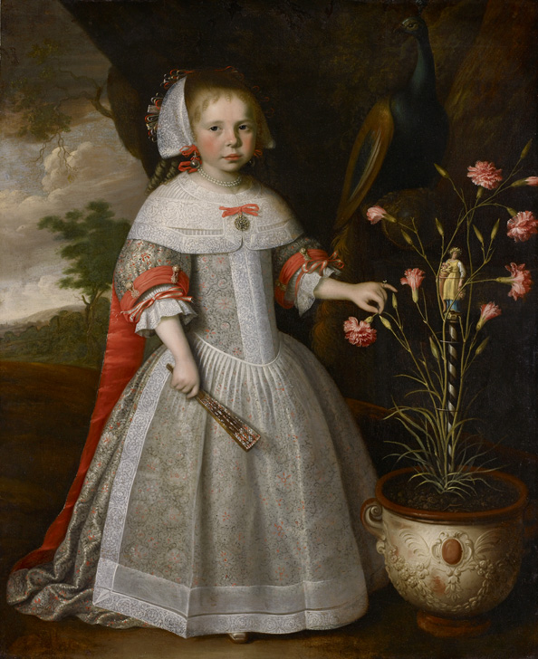 """A Four-year-old Girl with a Pot of Carnations."" 1663."