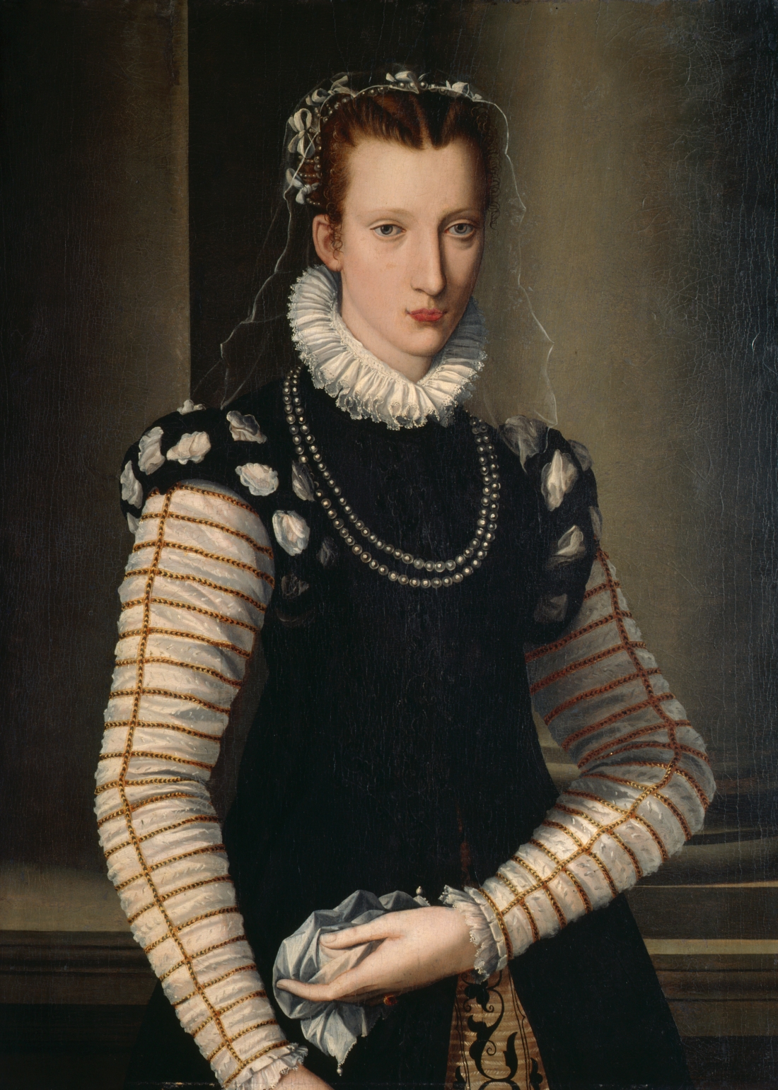 Portrait of a Lady in Black and White. ca. 1590-99.