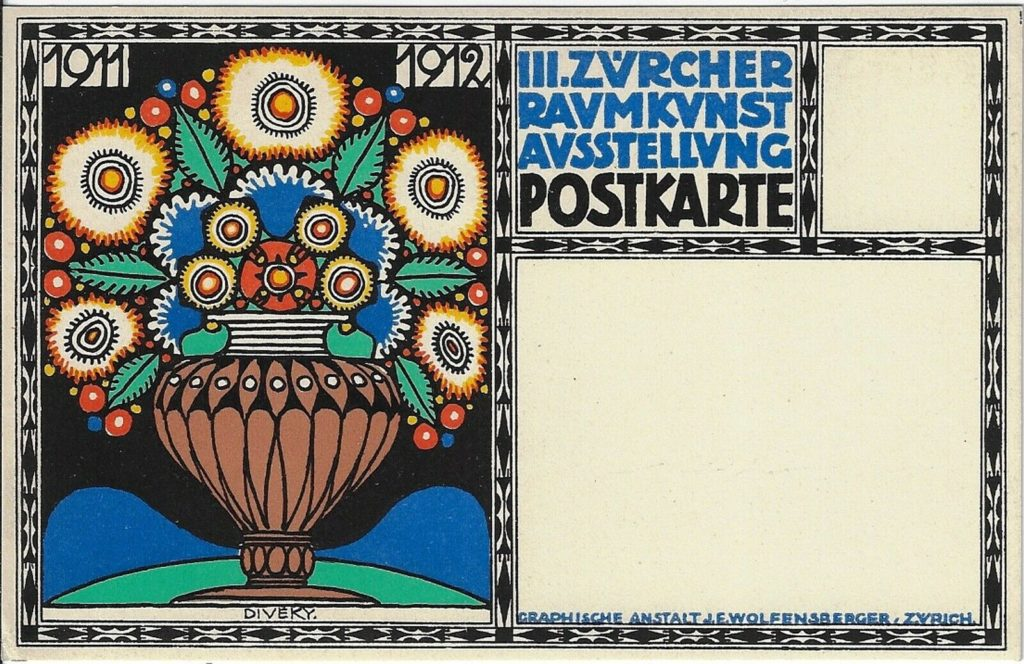 Postcard for the Third Zurich Interior Design Show, 1911-12.