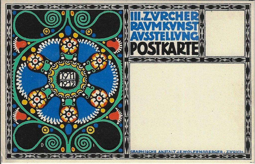 Postcard for the Third Zurich Interior Design Show, 1911-12.