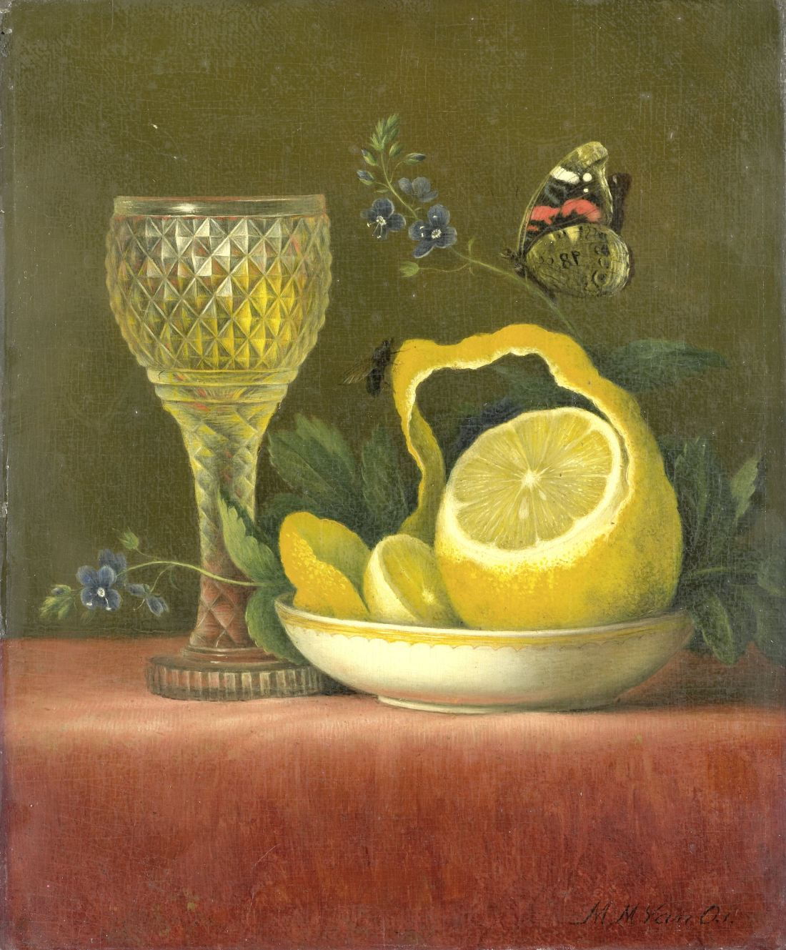 """Still Life with Lemon and Cut Glass."" 1823-26."