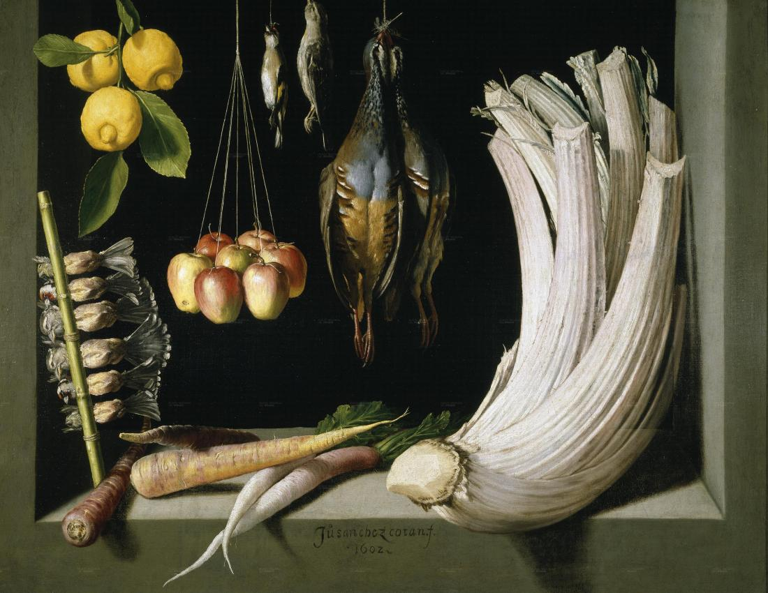 """Still Life with Game Fowl,Vegetables and Fruits."" 1602."