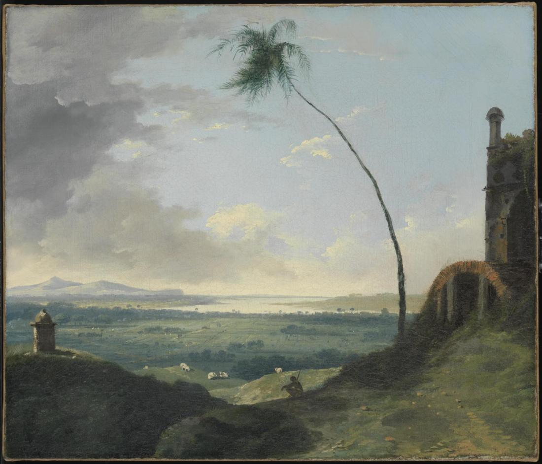 Tomb and Distant View of Rajmahal Hills 1782 by William Hodges 1744-1797