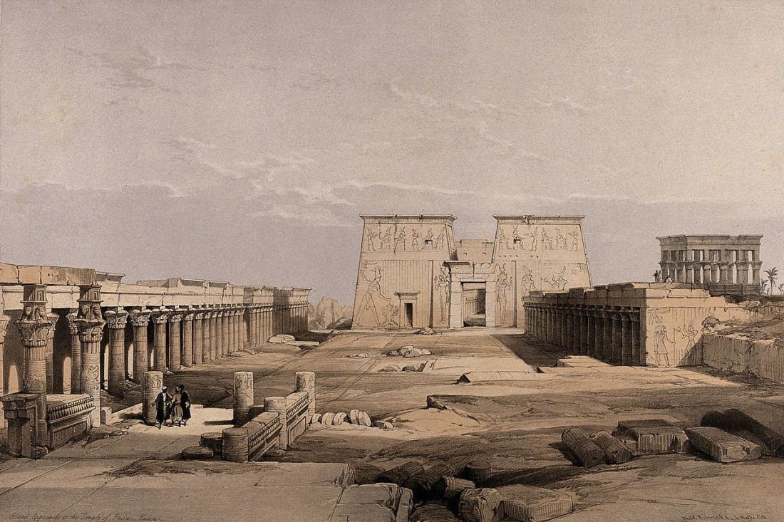 """Temple at Philae, Egypt."" 1840's."