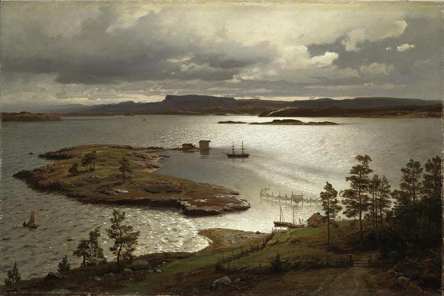 """The Fjord At Sandviken."" 1879."