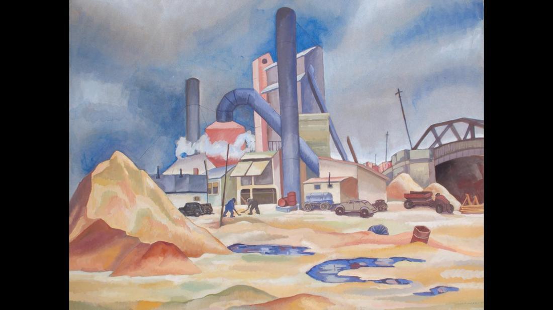 """Industrial Scene."" 1938."