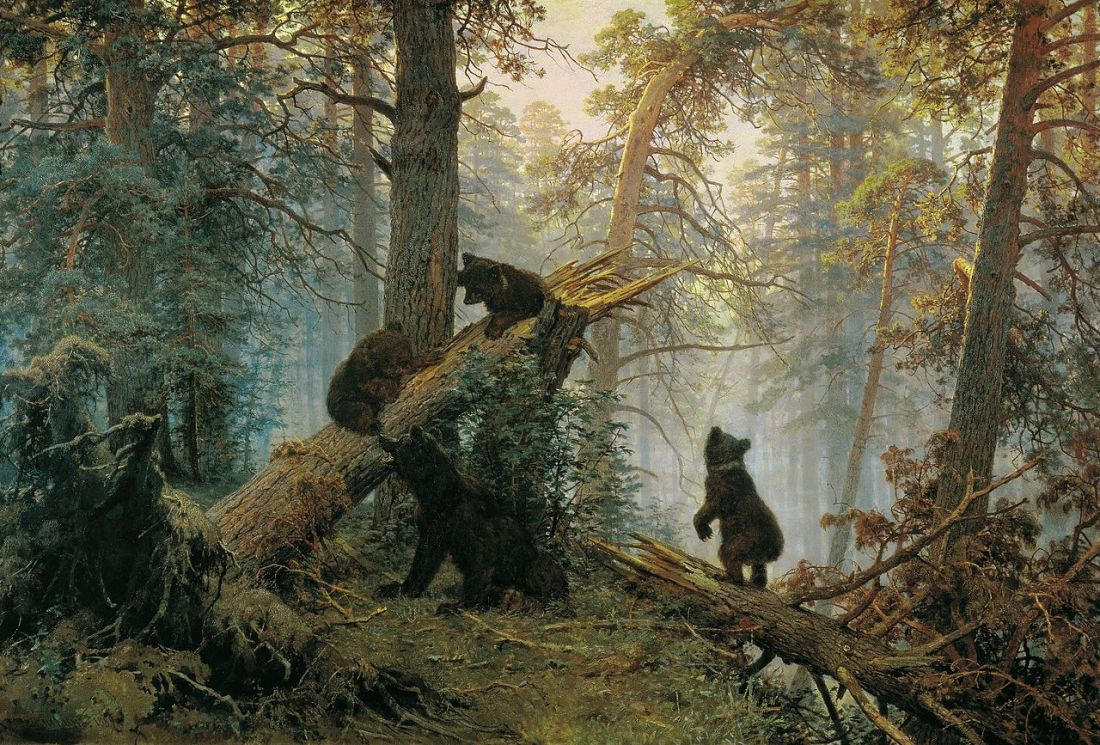"""Morning in a Pine Forest."" 1886."
