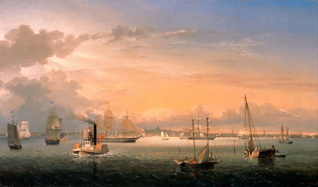 """Boston Harbor."" 1854."