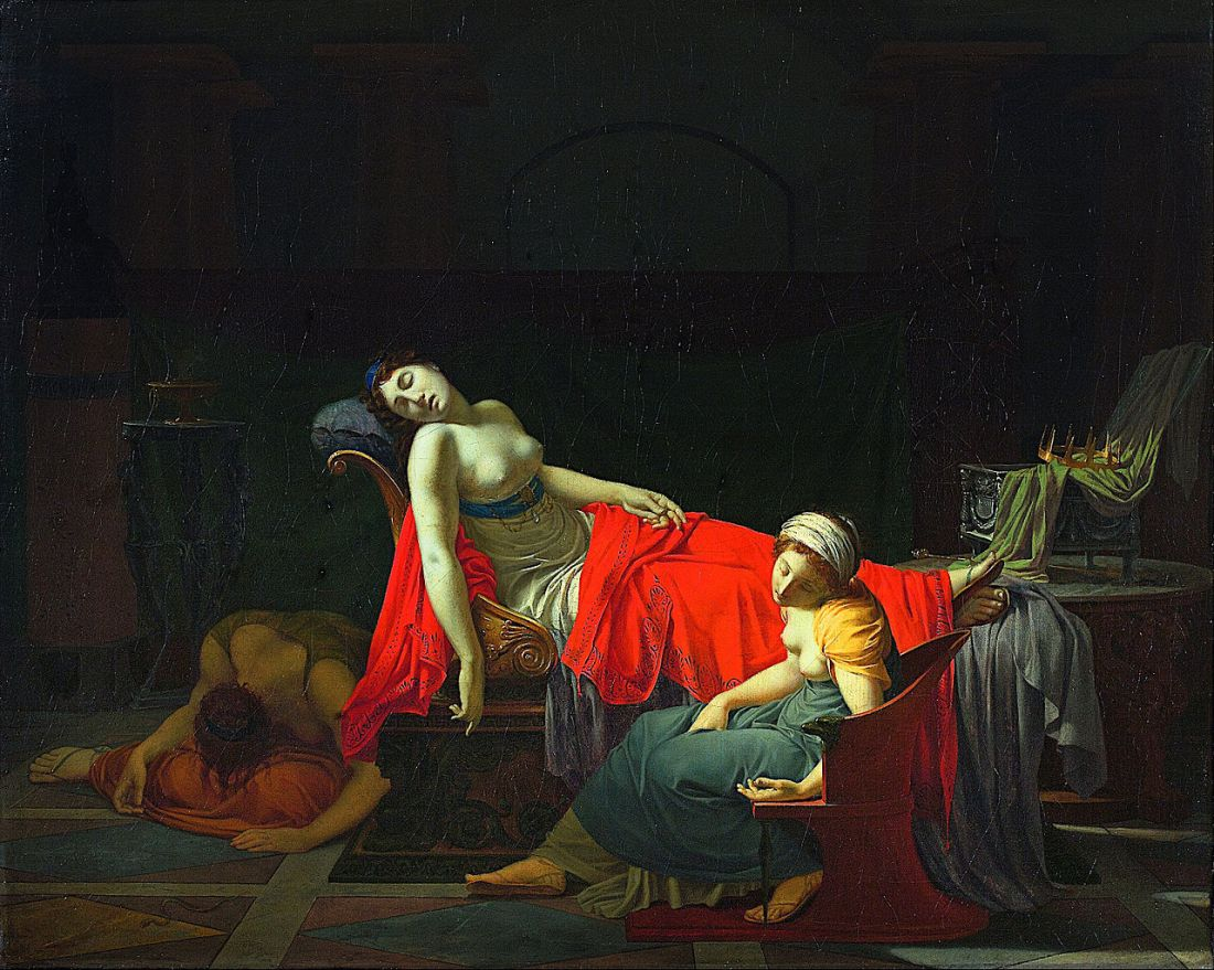 """Death of Cleopatra."" 1796-1797."