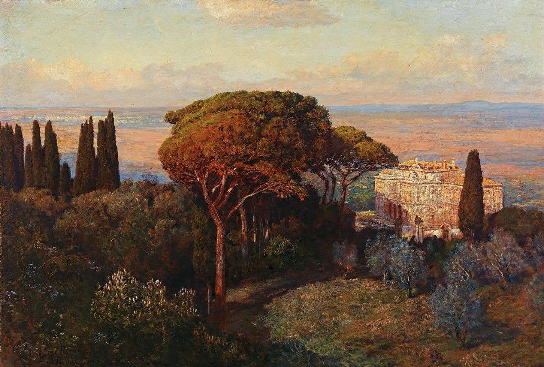 """Blick auf die Villa Falconieri."" 1907."