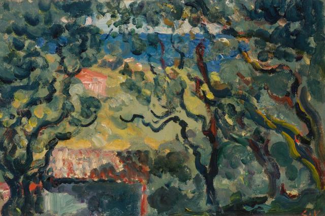 """""""Paysage"""" (Les Colettes a Cagnes). ca. 1907."""