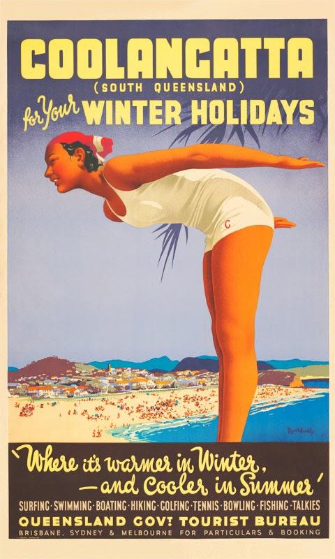 """Coolangatta, South Queensland."" 1950's."