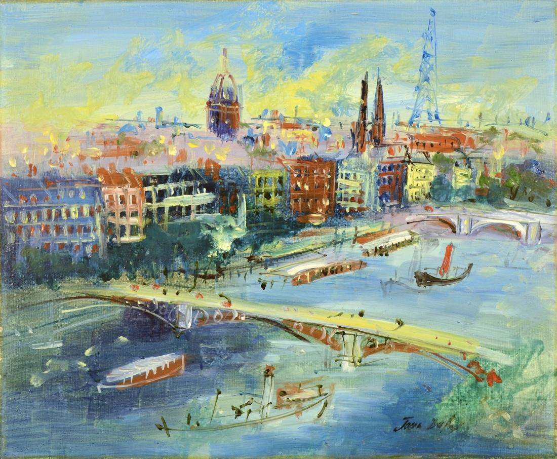 """""""Ponts de la Seine."""" ca. 1954."""