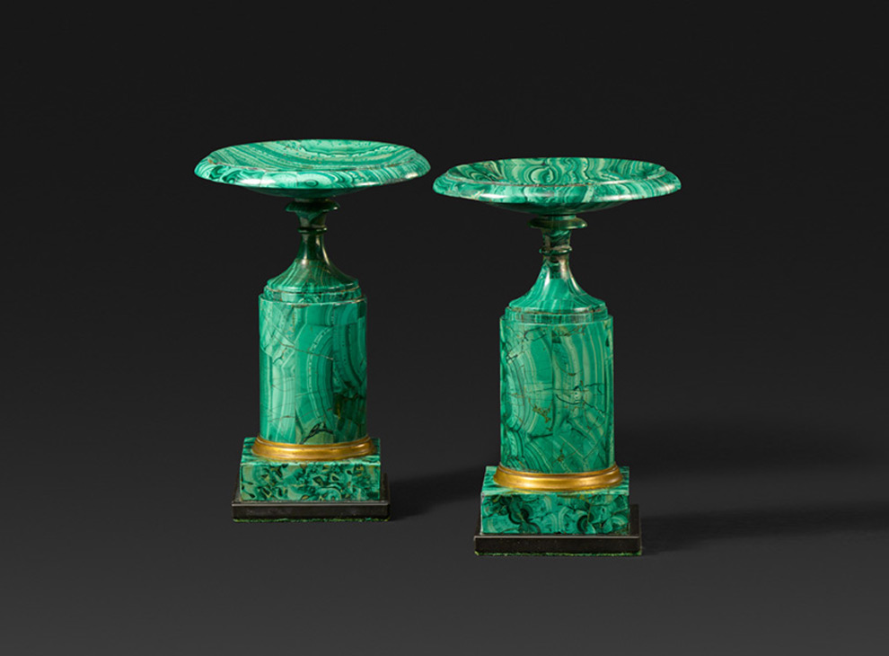 Pair of tazza. ca. 1830-1850.