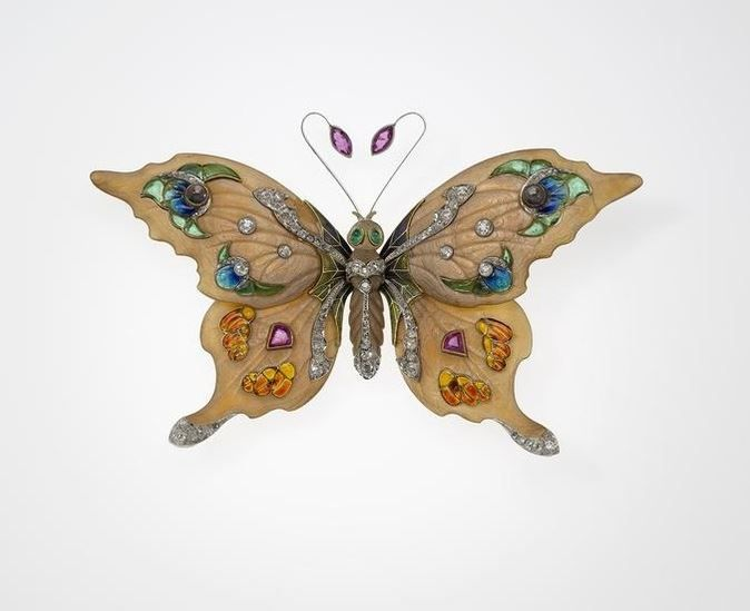 Butterfly brooch. ca. 1900.