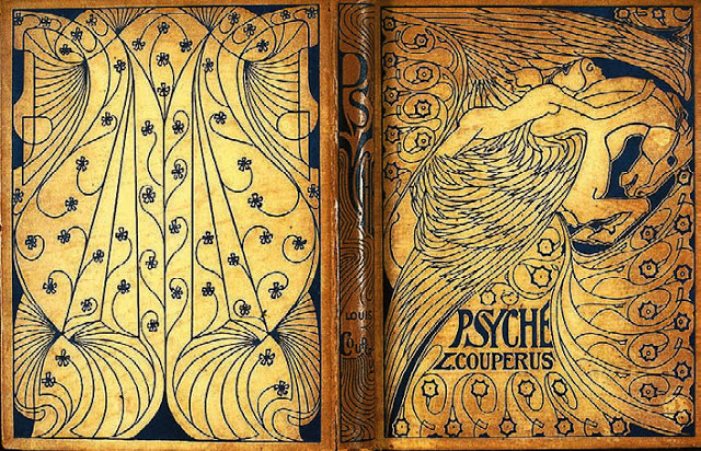 "Back and front covers of L. Couperus ""Psyche."""