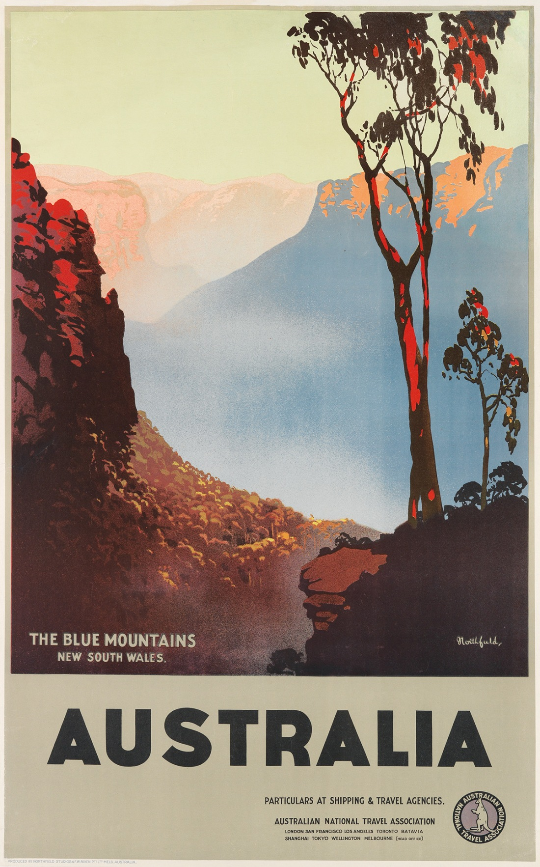 """The Blue Mountains, New South Wales."" ca. 1930's."