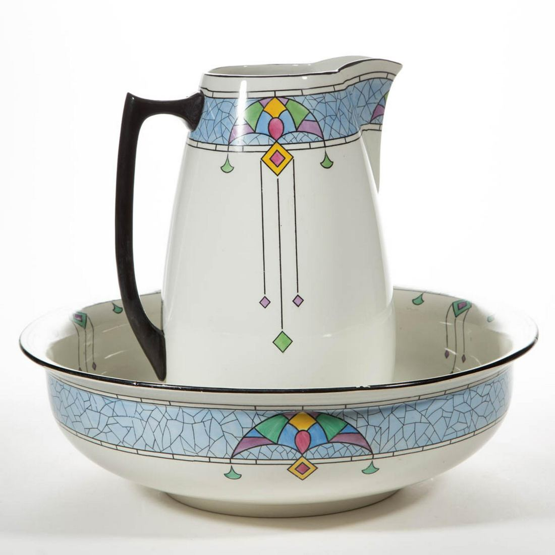 Wash pitcher and basin.1925-45.