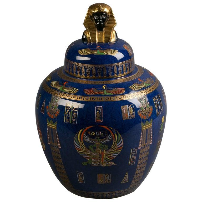"""Tutenkamun"" covered vase. ca. 1920."