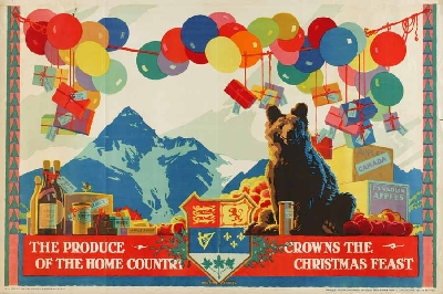 """The Produce of the Home Country Crowns the Christmas Feast."" 1927."