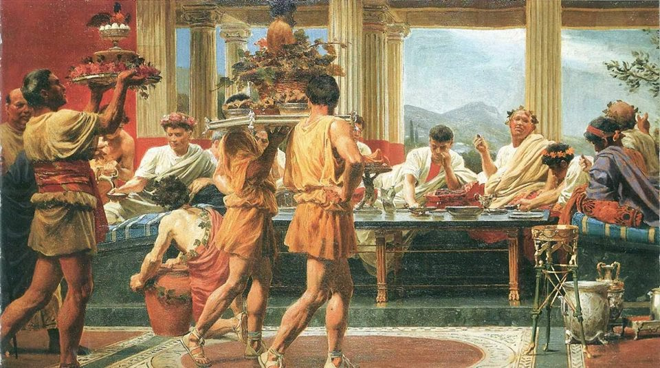 Das-Gastmahl-The-Symposion-Feast-by-Anton-von-Werner-1877